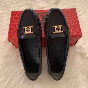 Tory Burch navy blue loafers. Size 8.5
